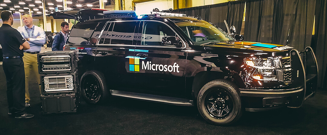 Microsoft showcases their latest technology at Inspire, including this tech-forward SUV