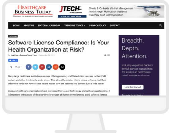 Healthcare Business Today Website