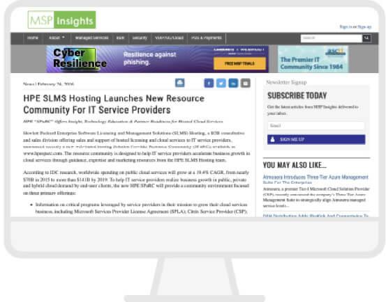 MSP Insights Website
